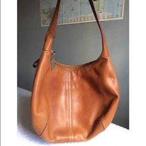 Coach British Tan Leather Hobo Bag